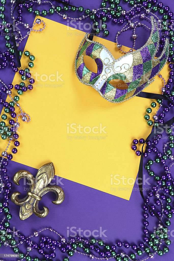 Mask and Bead Frame royalty-free stock photo