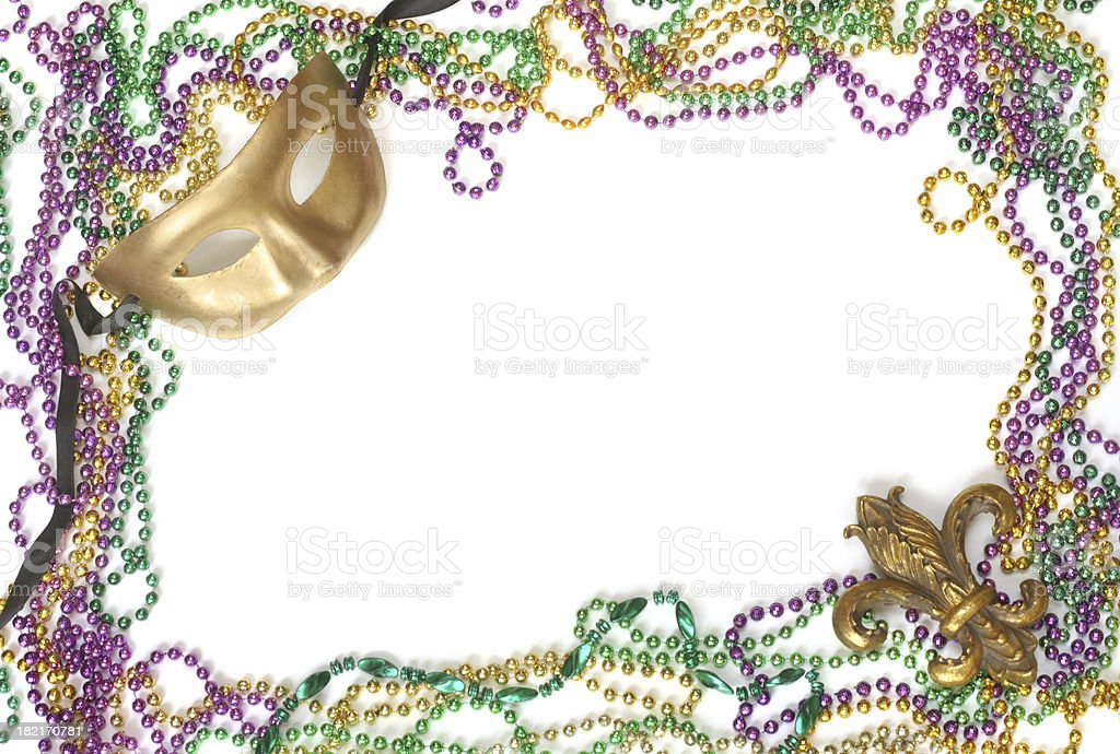 Mask and Beads royalty-free stock photo