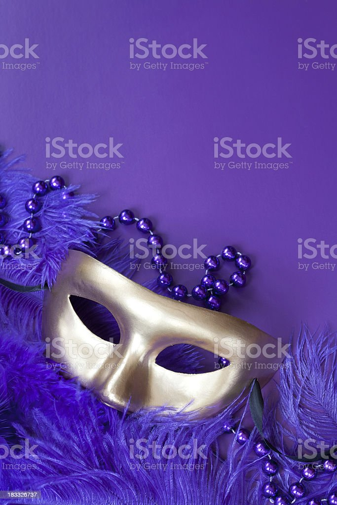 Mask and Feathers royalty-free stock photo