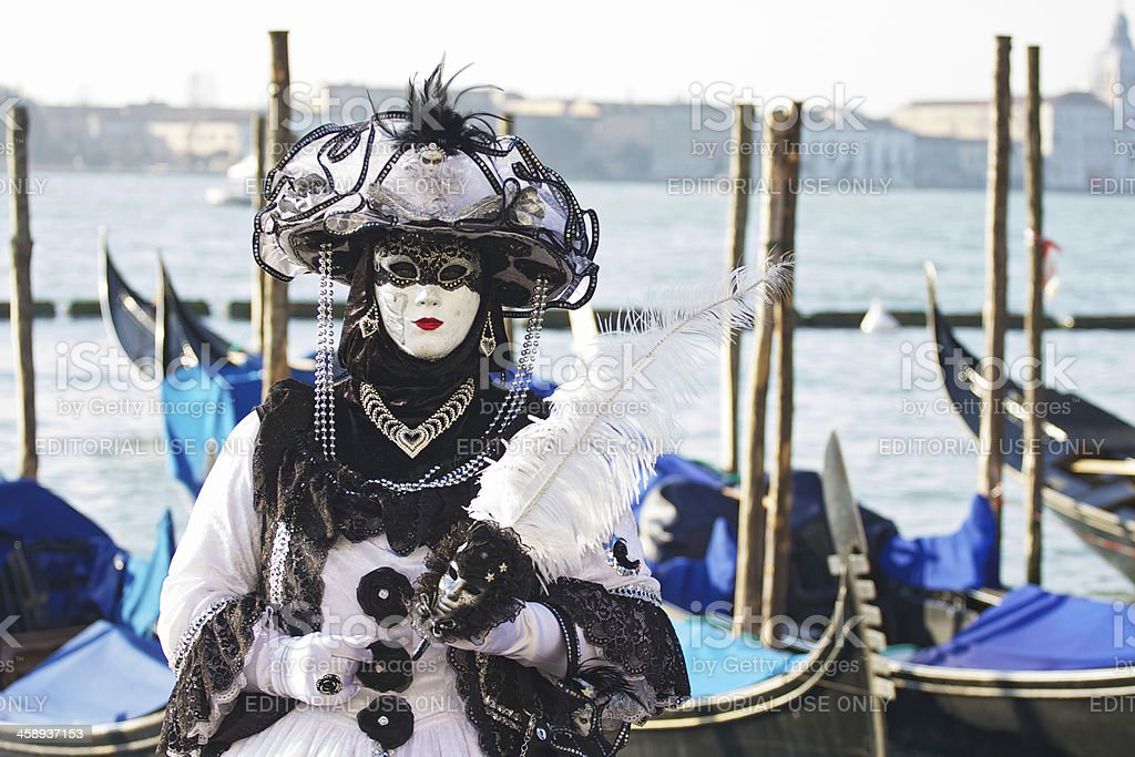 Mask at 2011 Venice Carnival royalty-free stock photo