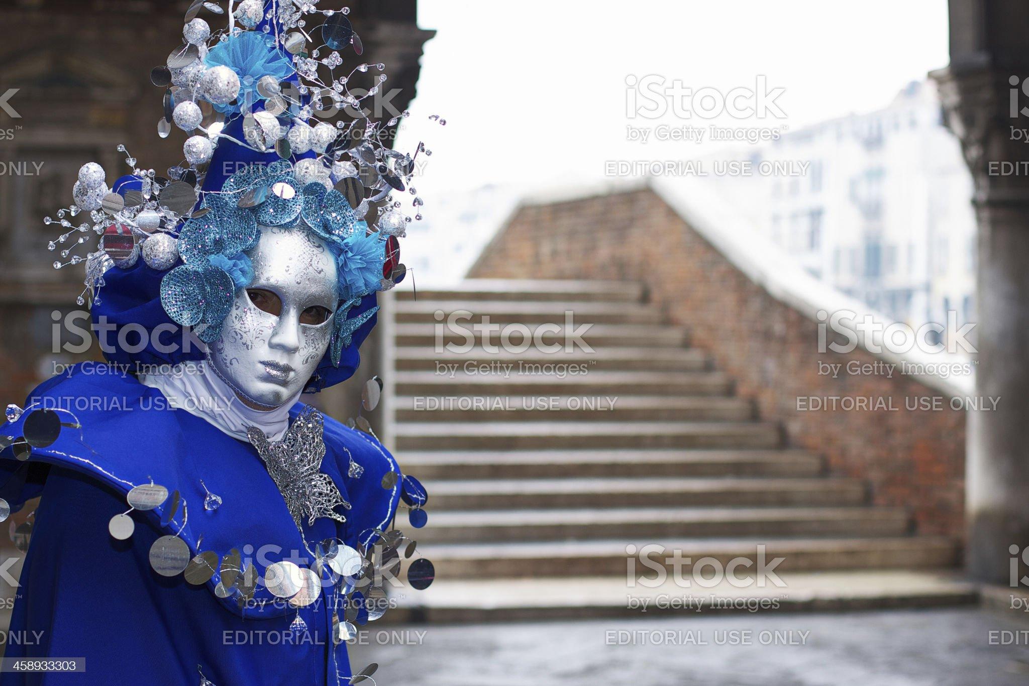 Mask at 2012 Venice Carnival in Rialto market royalty-free stock photo