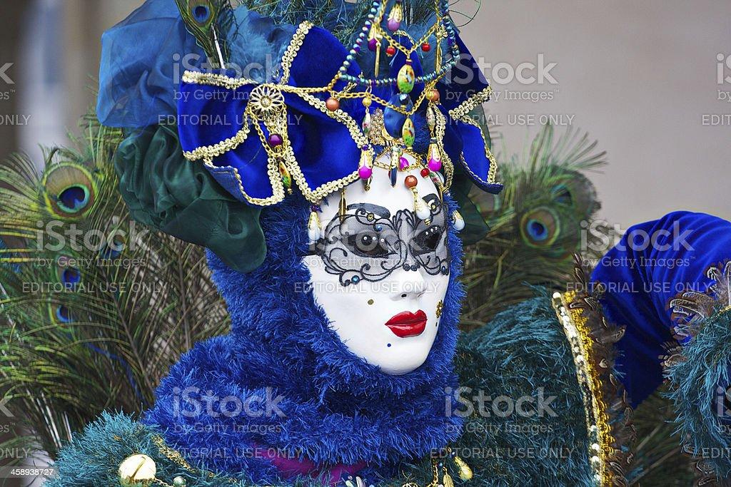 Mask at 2012 Venice Carnival royalty-free stock photo