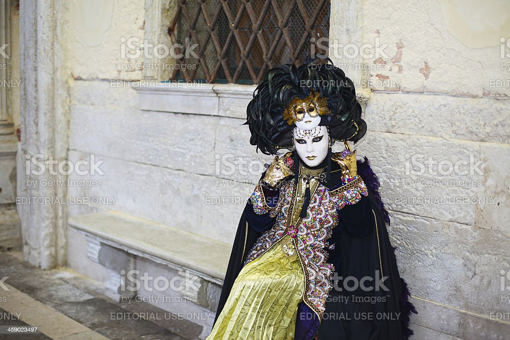 Mask at Venice Carnival 2013 royalty-free stock photo