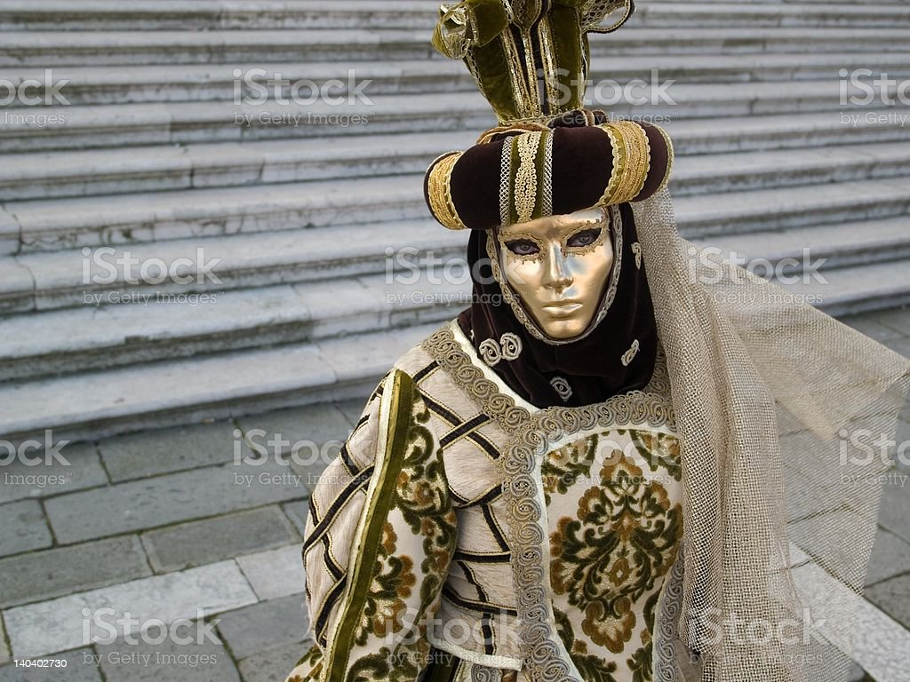 Mask at Venice Carnival royalty-free stock photo