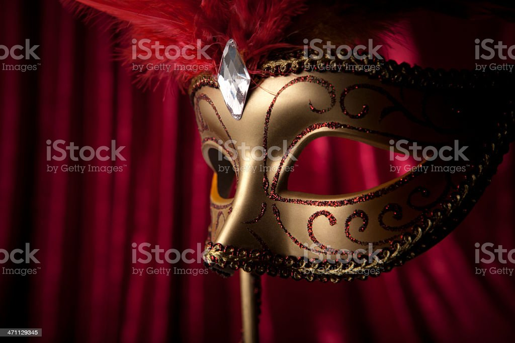 Mask detail royalty-free stock photo