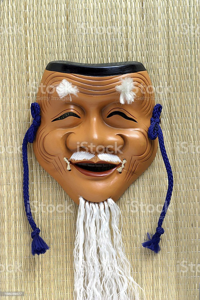 Mask elderly man royalty-free stock photo