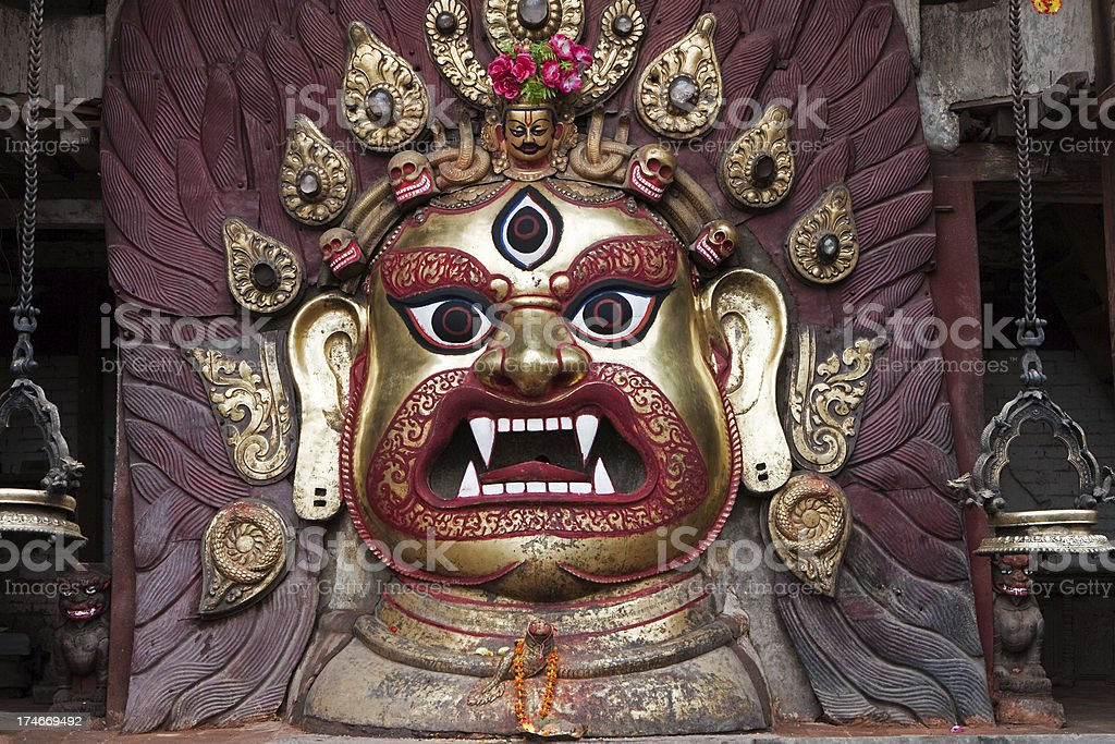 Mask Face of the White Bhairab royalty-free stock photo