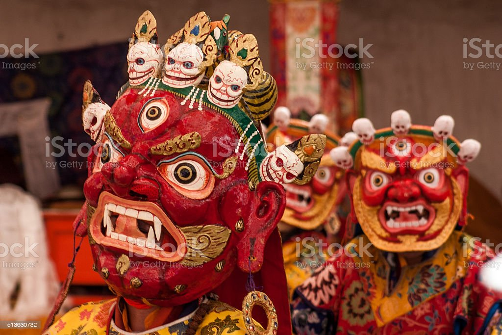 Mask Festival in Ladakh stock photo