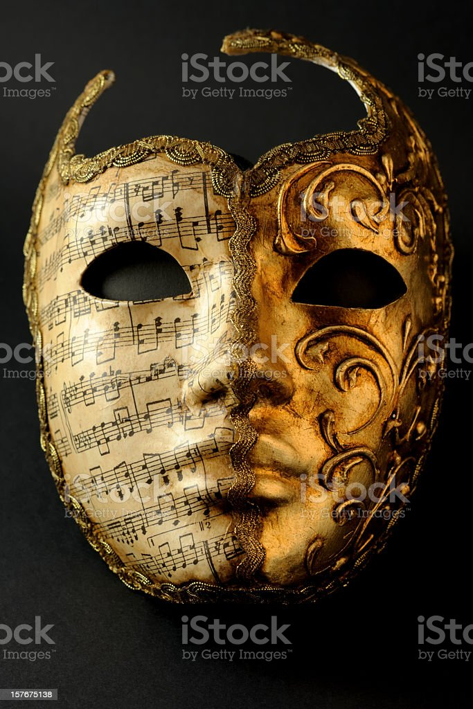 A mask from the carnival in Venice  stock photo