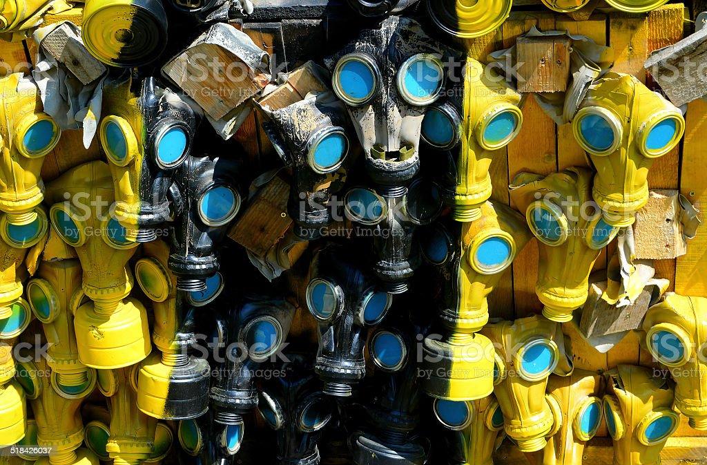 mask gaz stock photo