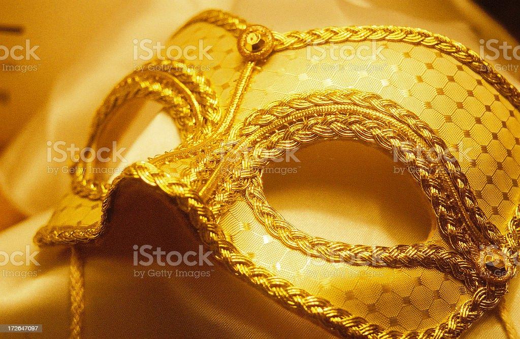 Mask, Gold Mardi Gras stock photo