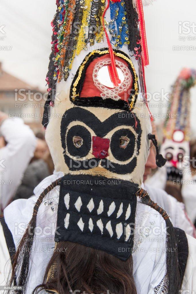 Mask. Mummer. Bulgaria. stock photo