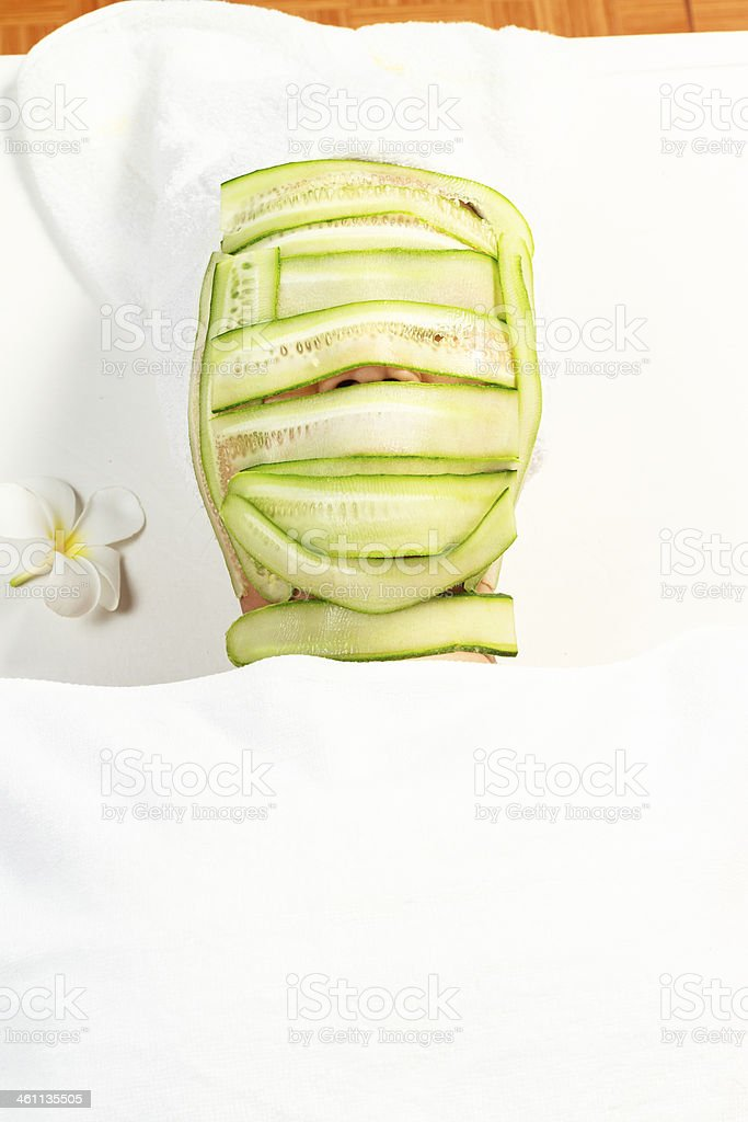 mask of cucumber royalty-free stock photo