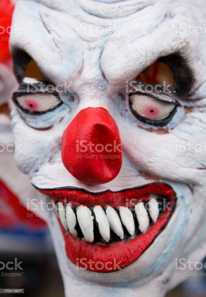 mask of evil clown royalty-free stock photo