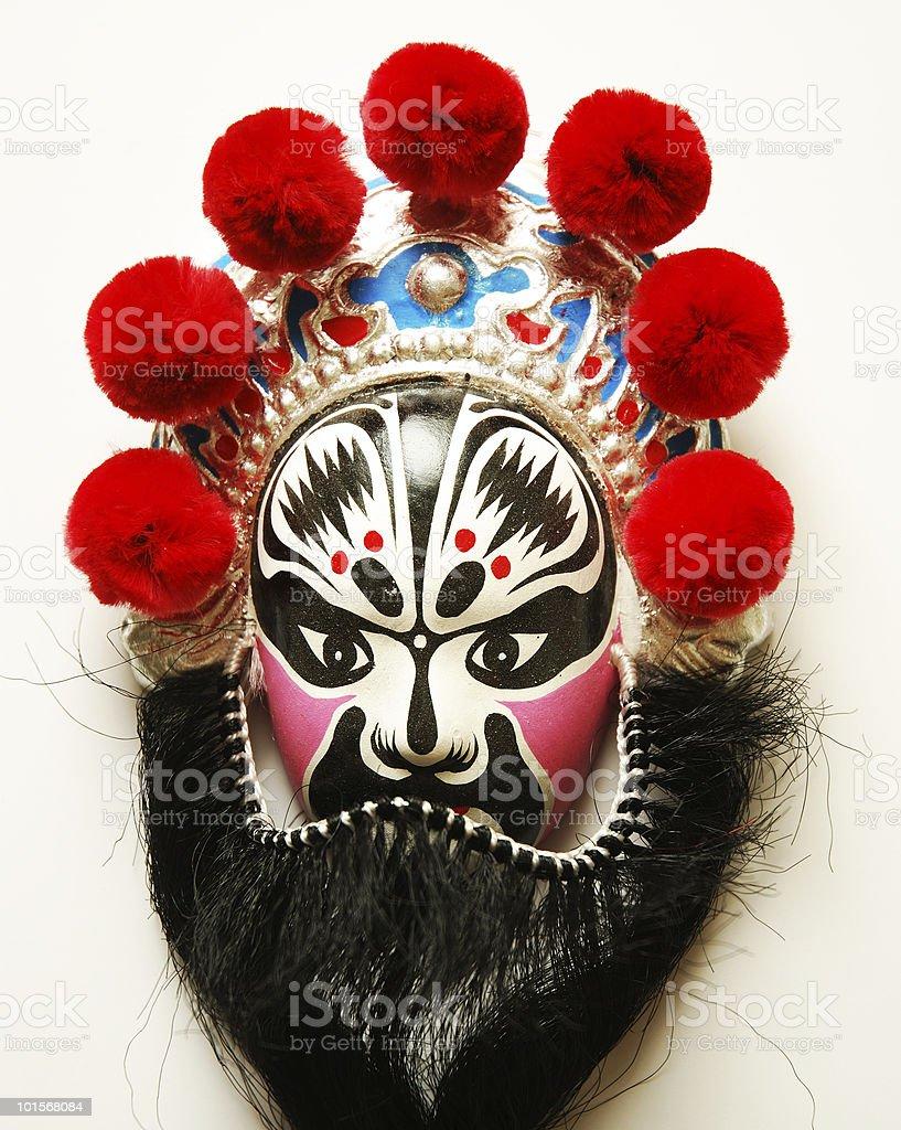 Mask of Facial Makeup in Beijing Opera stock photo