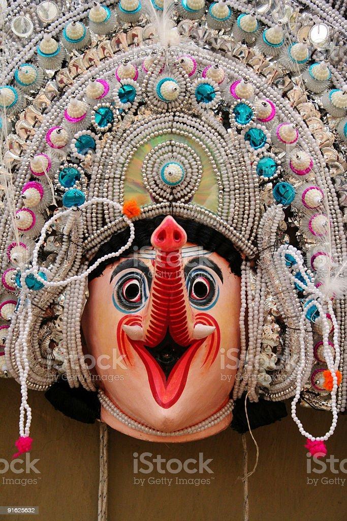 Mask of Ganesha royalty-free stock photo