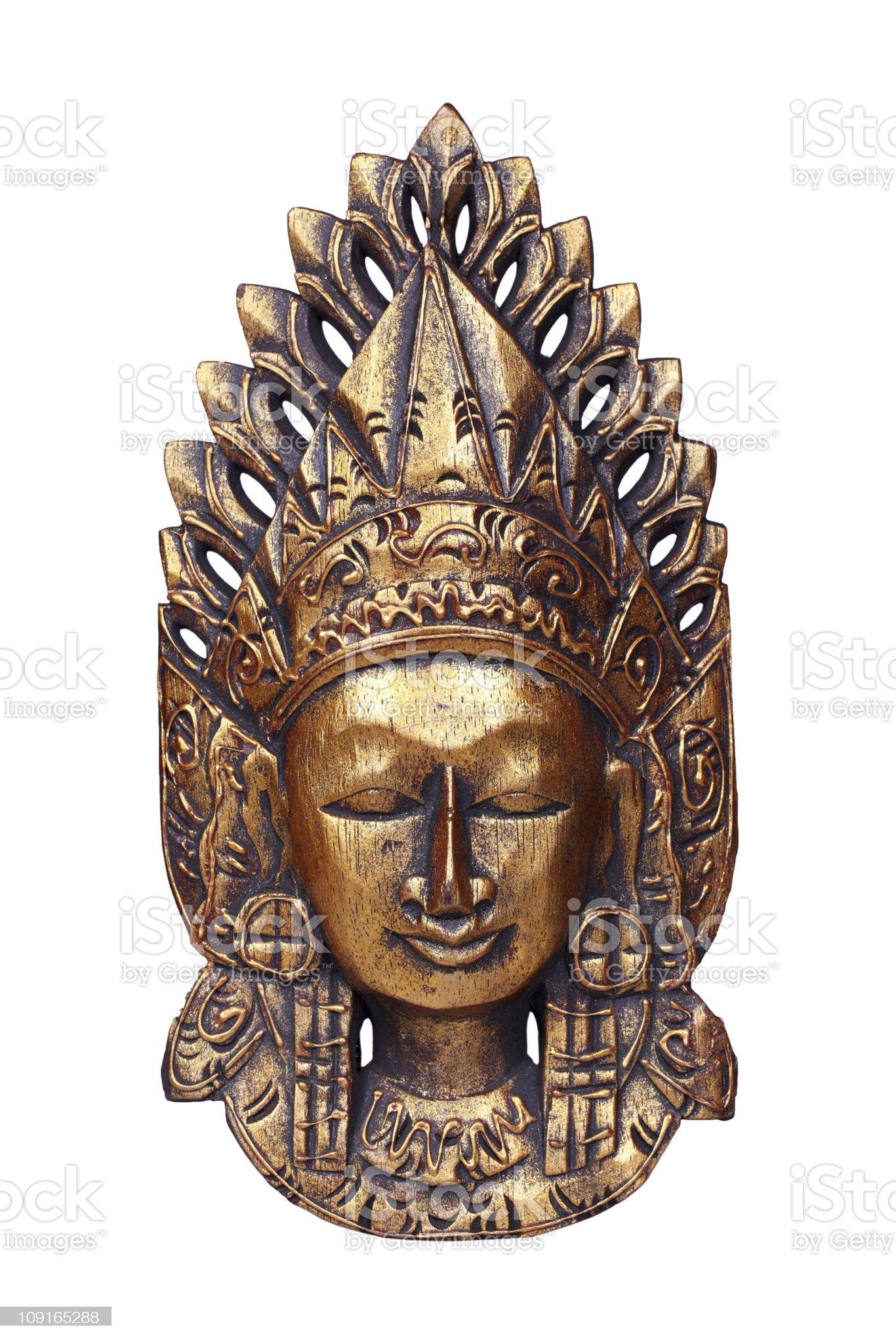 Mask of god Vishnu royalty-free stock photo