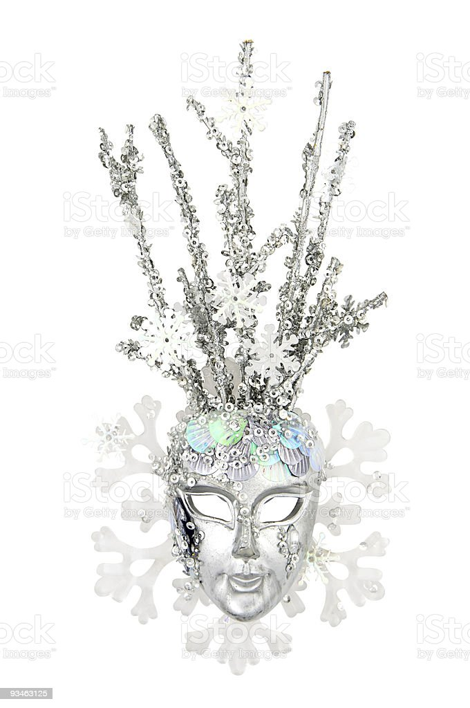 Mask Of Snow Queen stock photo