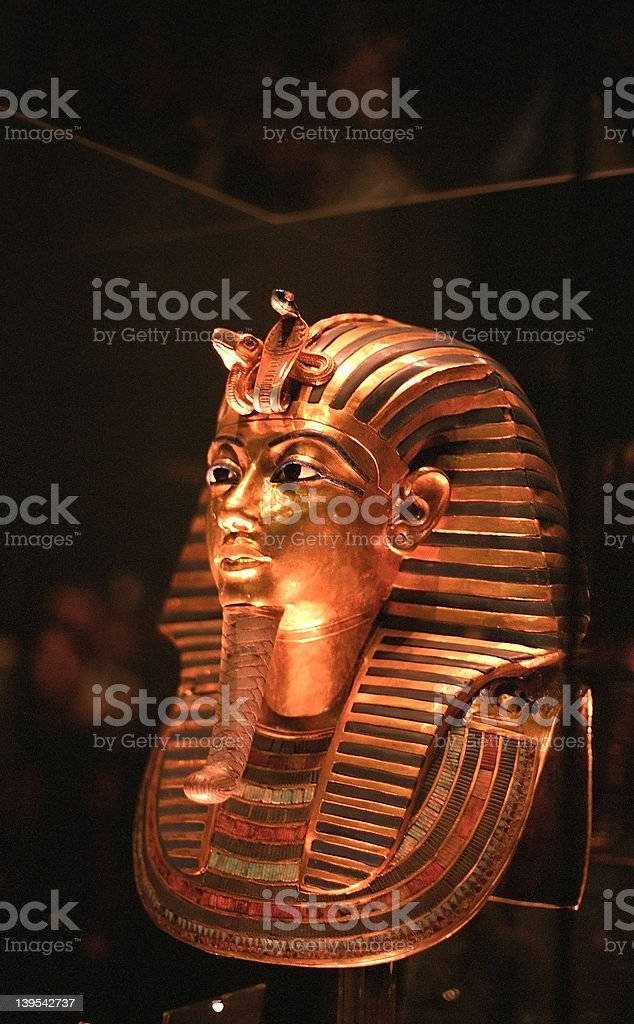 Mask of Tut-Ankh-Amon royalty-free stock photo