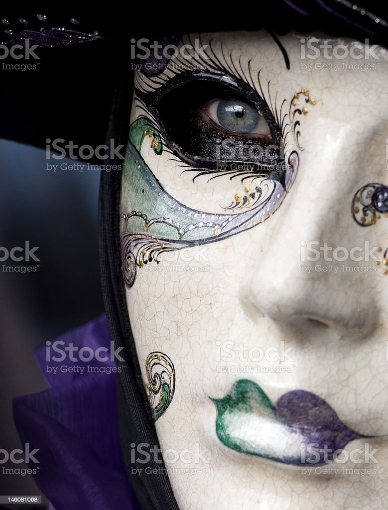 Mask of Venetian carnival royalty-free stock photo
