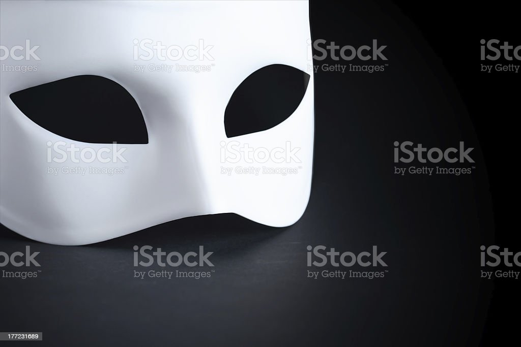 Mask On Black stock photo