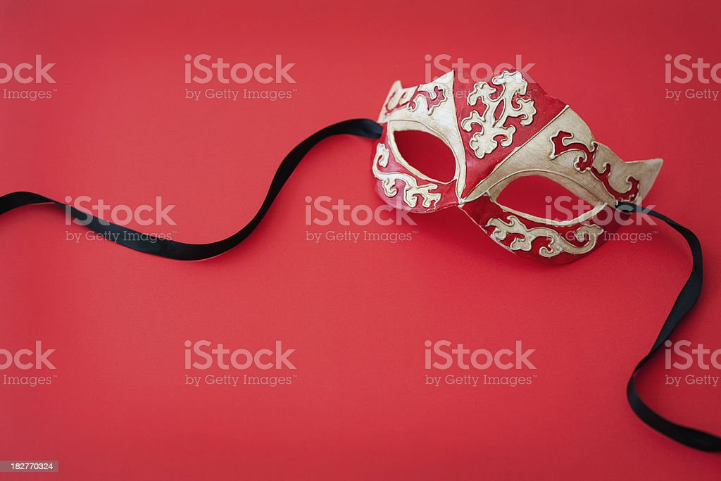 Mask on Red royalty-free stock photo