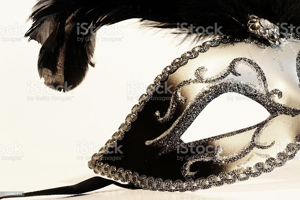 Mask on white stock photo
