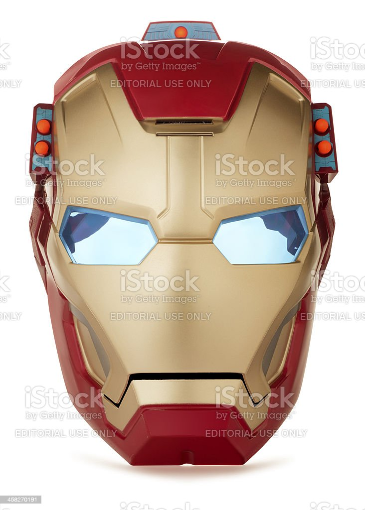 IRON MAN Mask on White royalty-free stock photo