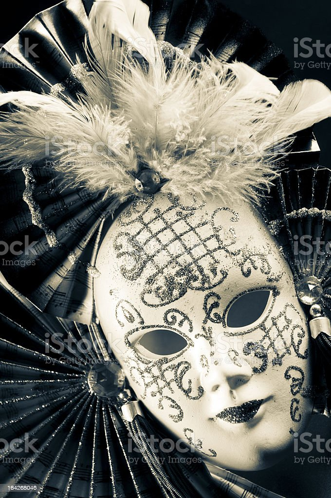 Mask with feathers royalty-free stock photo