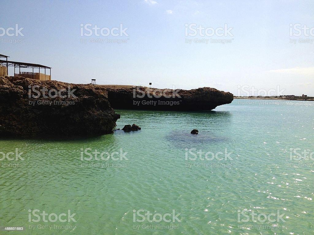Maskali Island Djibouti royalty-free stock photo
