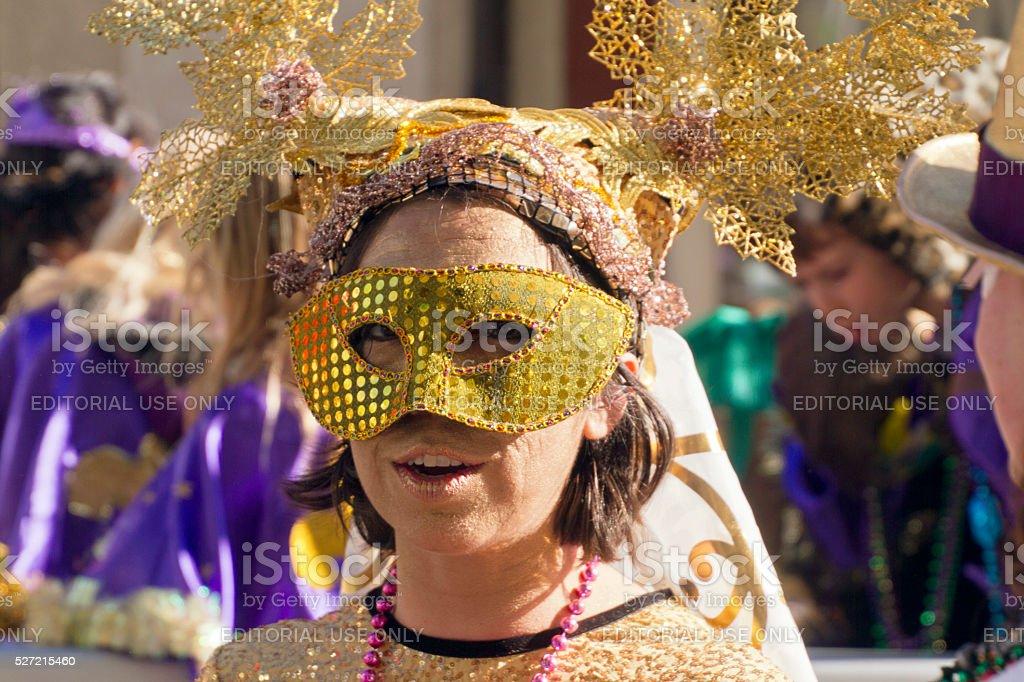 Masked At Mardi Gras stock photo