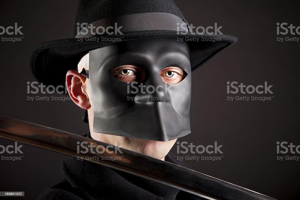 Masked avenger royalty-free stock photo