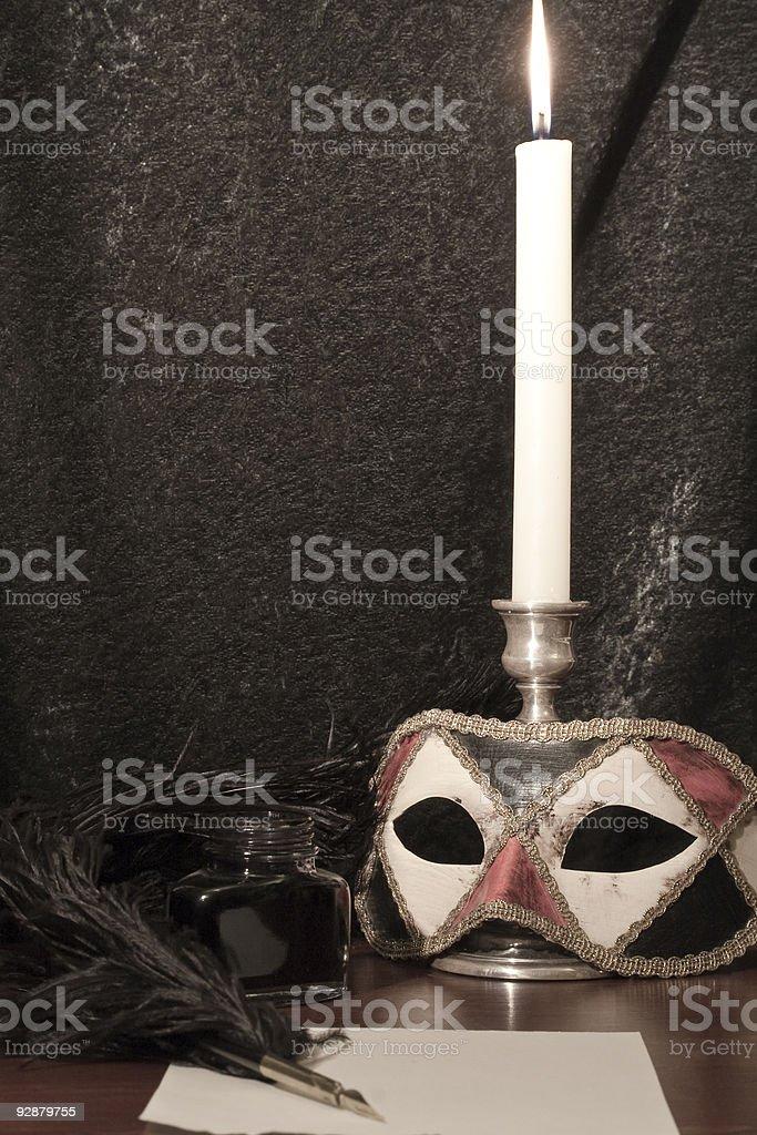 Masked Ball, Harlequin Mask and Masquerade stock photo