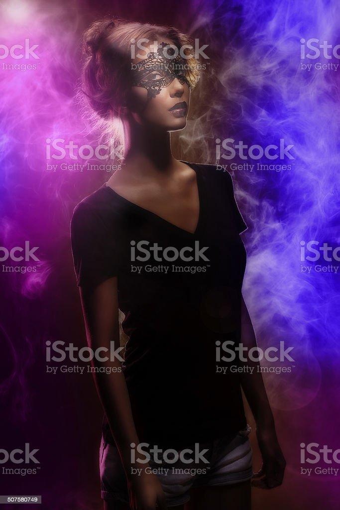 Masked Beauty stock photo