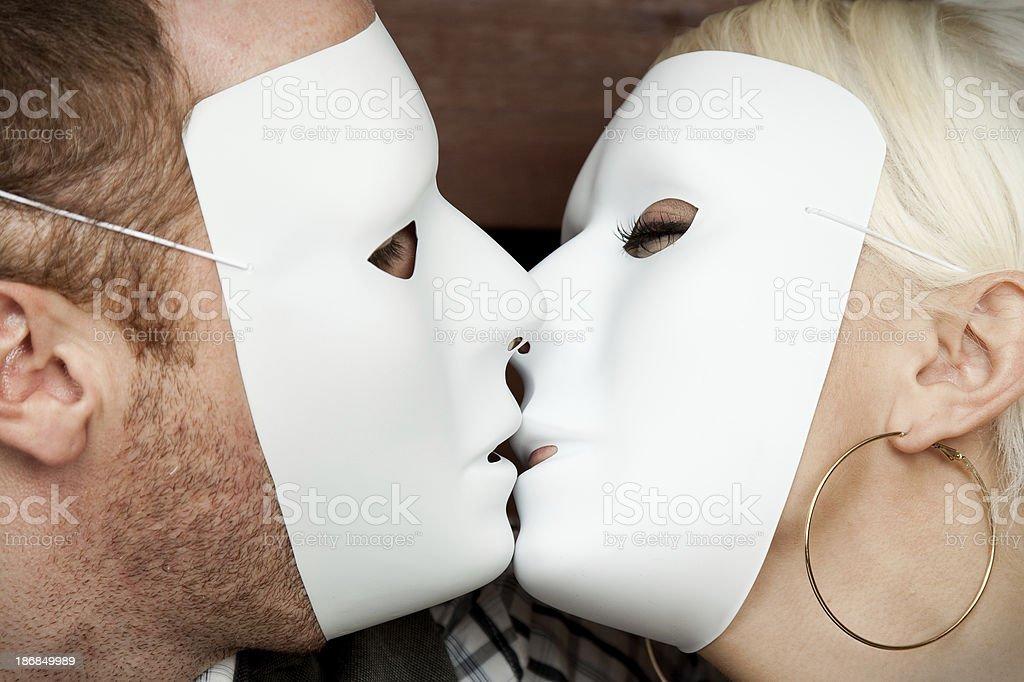 Masked Couple stock photo