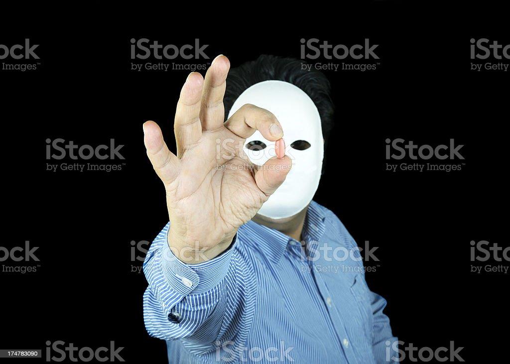 Masked Drug Dealer stock photo