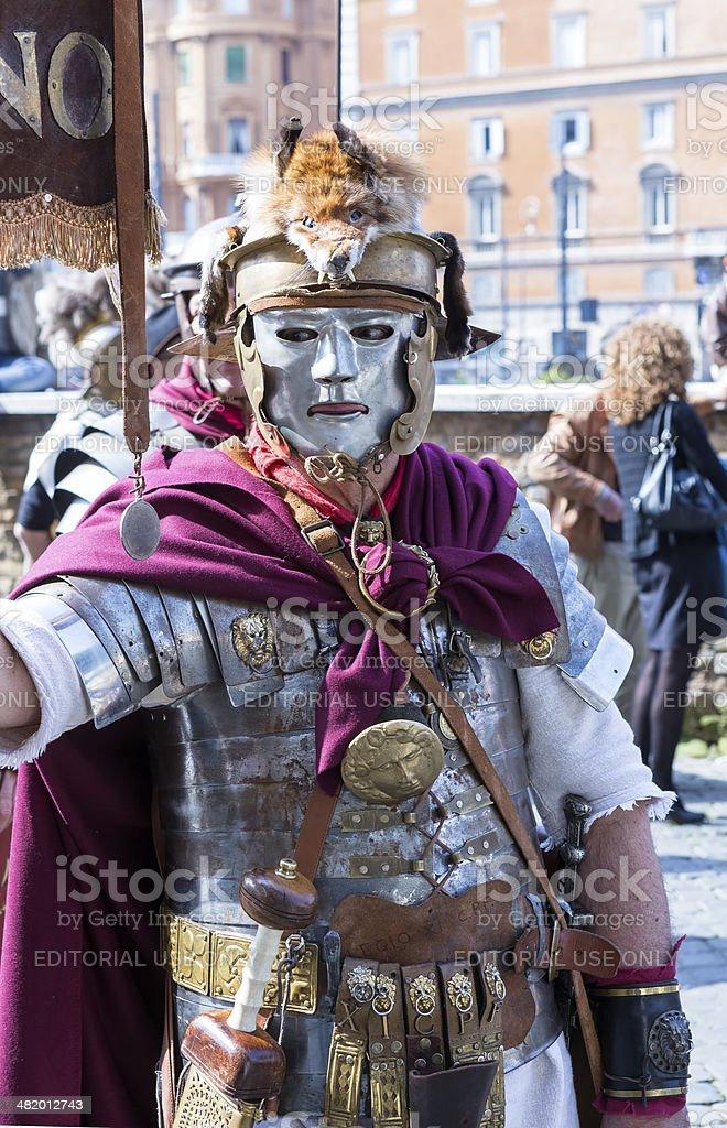 Masked Legionary stock photo