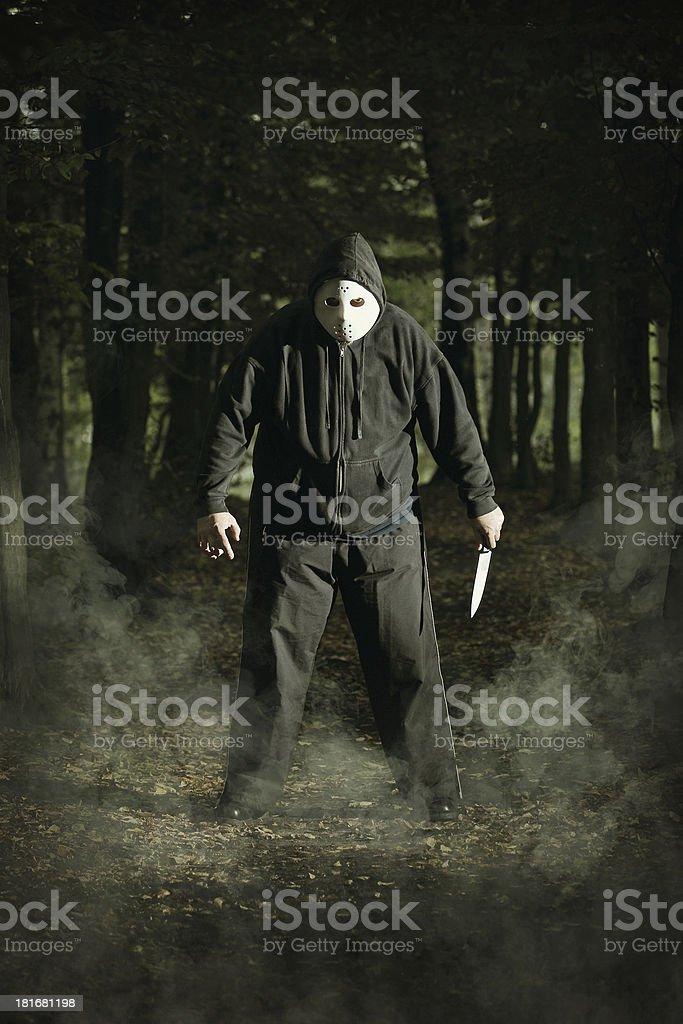 Masked maniac royalty-free stock photo