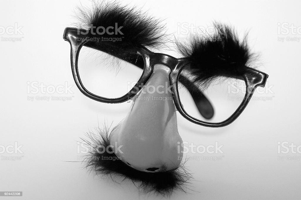 Masked Nose stock photo
