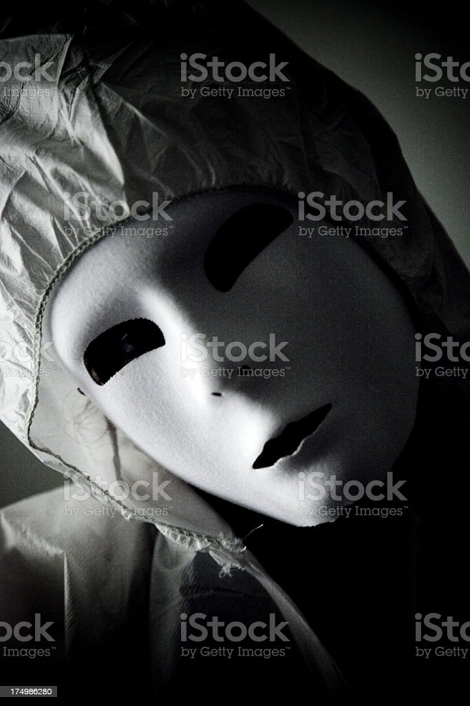Masked Person royalty-free stock photo