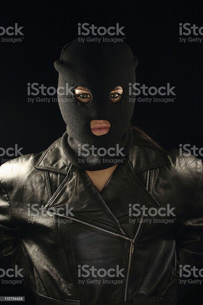 Masked Robber stock photo
