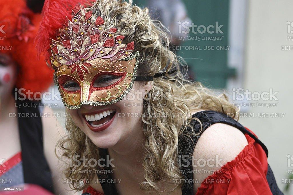 Masked Smile royalty-free stock photo