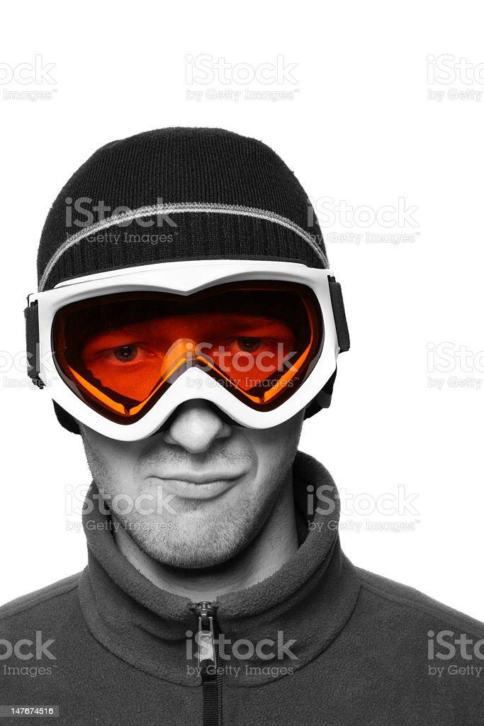 Masked Snowboarder royalty-free stock photo