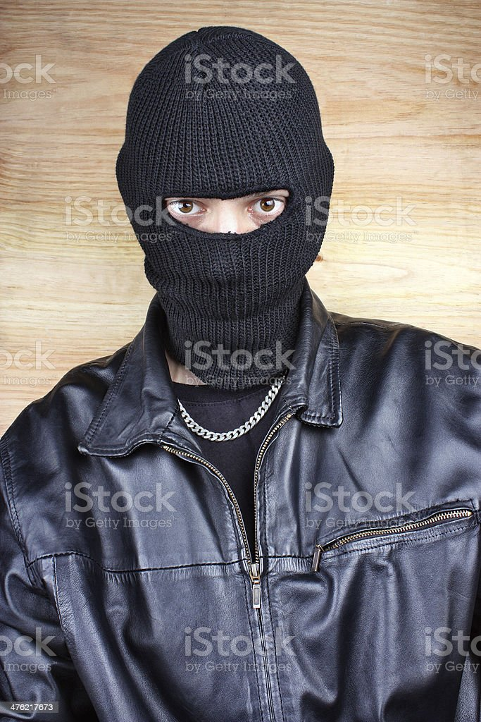 Masked thief royalty-free stock photo