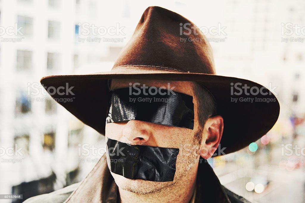 Masked Urban Cowboy royalty-free stock photo