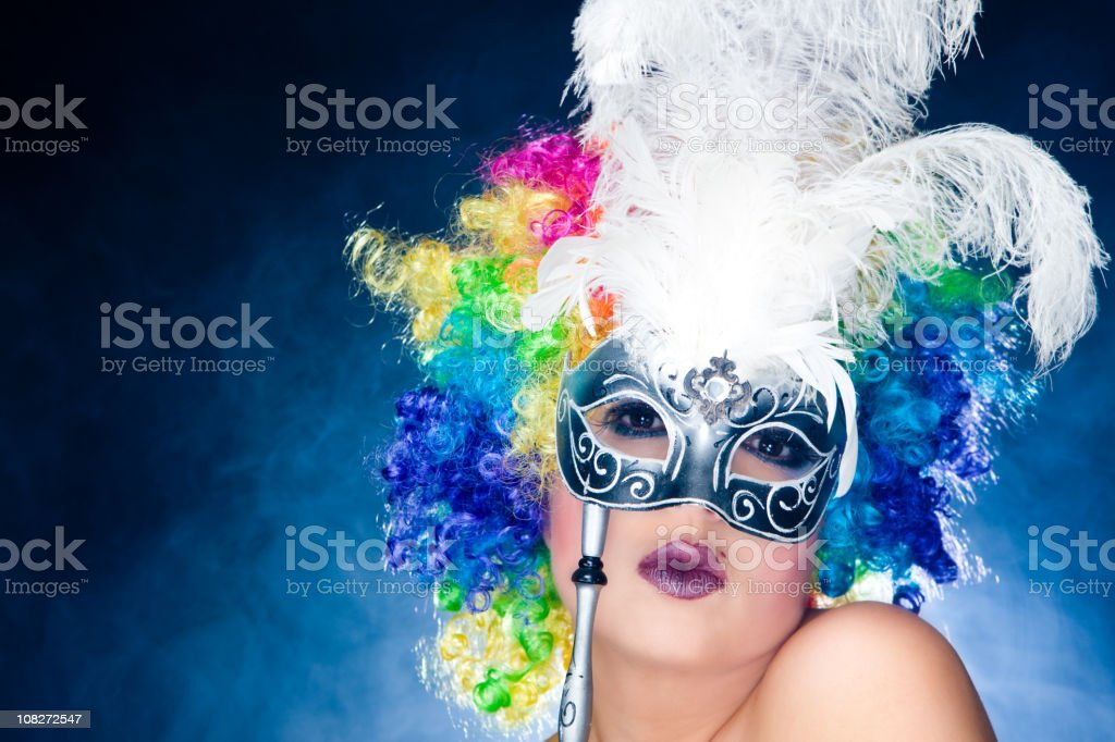 Masked woman royalty-free stock photo