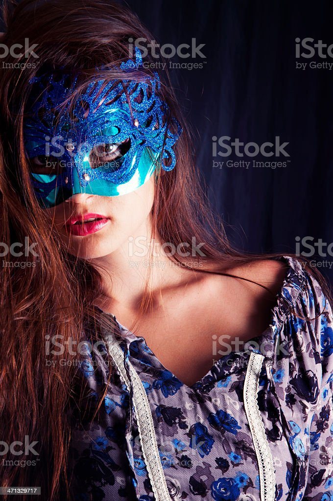 Masked Woman royalty-free stock photo