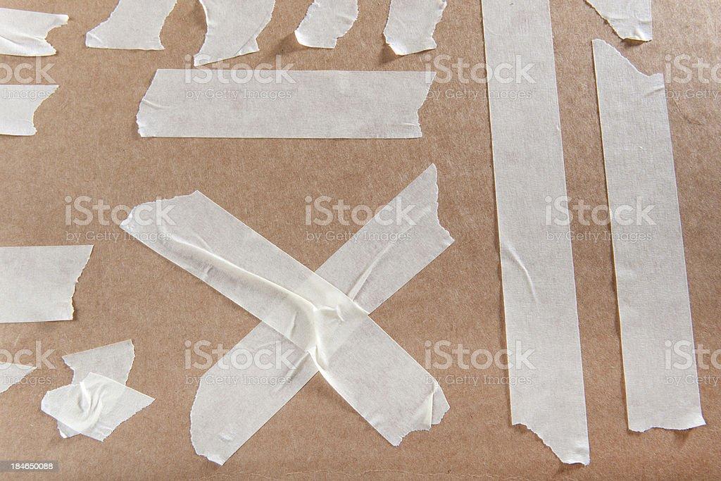Masking Tape on Cardboard royalty-free stock photo