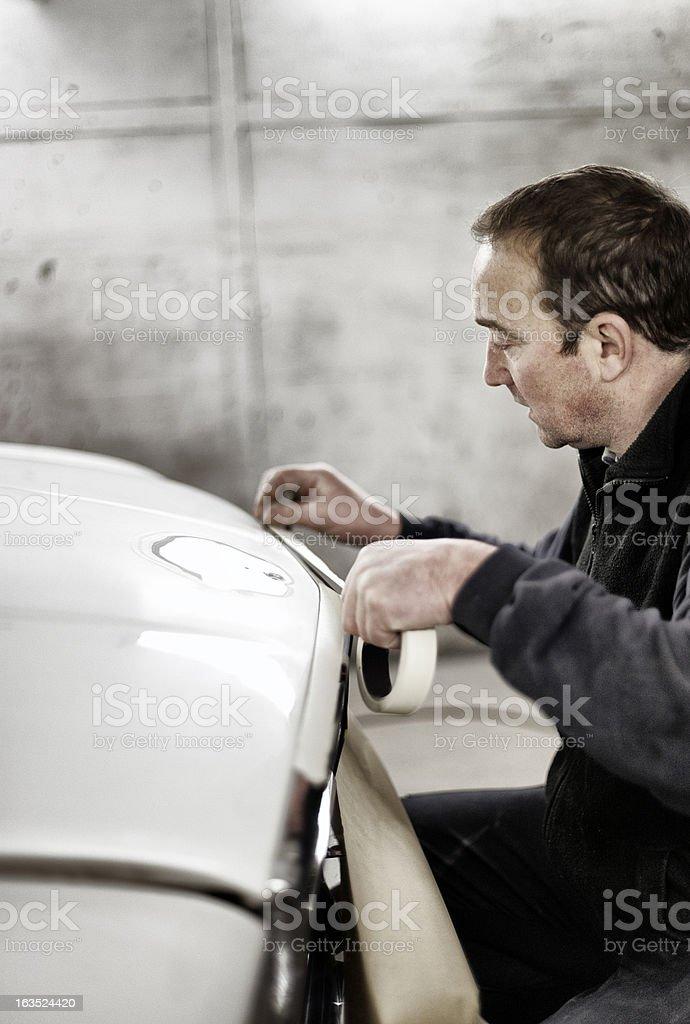 Masking to re-spray stock photo