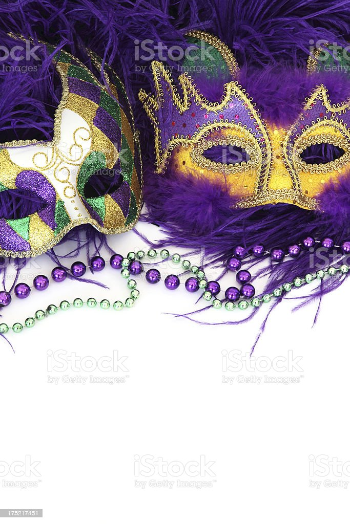 Masks and Beads stock photo